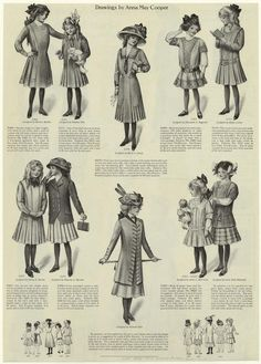 School clothes. (1910) I love the third one on the top!