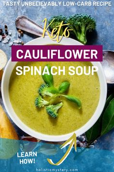 Healthy Keto Green Soup recipe is simple and packed with the advantages of Cauliflower Spinach Soup. There is simply Green Soup Recipes Healthy right here, bigger with cream, cheese and fresh smashed black pepper. Keto Cauliflower Spinach Soup is an excellent technique to include spinach in our keto Diet. Look into the lively plentiful shade of this Spinach Soup Coconut Milk. Spinach Soup Recipe Creamy is a fantastic methods of containing green leafy veggies to your diet strategy. Healthy Low Carb Dinners, Low Carb Dinner Recipes, Healthy Soup Recipes, Keto Dinner, Creamy Spinach Soup, Nutritional Value Of Spinach, Spinach Benefits, Green Soup, Keto Cauliflower