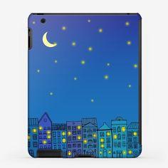 Чехол iPad «Ночной город »