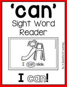 This is a Sight Word Mini Reader FREEBIE that is great for beginning readers! The sentences in this mini reader focus on the sight word: 'can'. The sentences on each page are repetitive with picture support. This FREEBIE Sight Word Reader is part of my Sight Word Readers and Intervention Activities. You can make this mini reader interactive by having students circle the sight word they are focusing on in the mini reader.