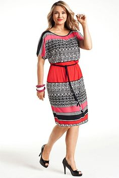 Sara Dresses - Brands - Sara Graphic Print Dress - EziBuy Australia