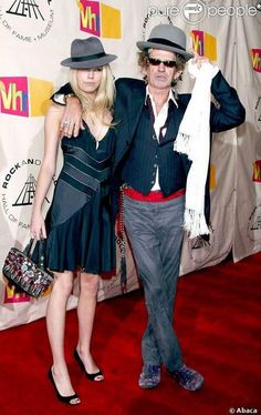 Keith and Thedora Richards,March 2004, NYC. The Rolling Stones #KeithRichards…
