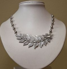Free Shipping -  Leaf Necklace -Silver. $25.00, via Etsy.