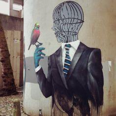 Graffiti street in Bristol