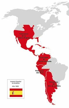 Spanish Empire much of what is nowadays Hispanic America Spain History, Ap World History, European History, American History, Historical Maps, Historical Pictures, Spanish Heritage, Porto Rico, New Spain