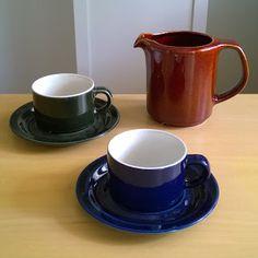 Arabia GB-mallin kahvi-/teekupit Kermit, Sugar Bowl, Bowl Set, Gravy, Martini, Martinis