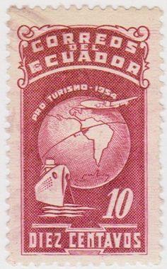 EC103 1954 Ecuador 10C Mauve Transport SG1028 | eBay