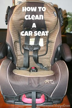 This is a really good explanation on clean a car seat! Covers ...