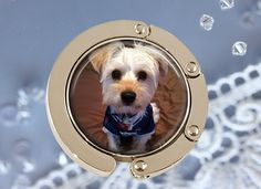 Folding Purse Hanger with Pet Photo  Pet Lovers by AGiftToLove