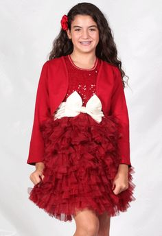 a4451e6117132 Bunnies Picnic - Ooh La La Couture Wow Dream Dress in Red with Champagne  Bow for
