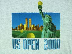 US Open Tennis T-Shirt 2000 New York Statue of Liberty USTA Member RARE VTG - L #Unbranded #GraphicTee