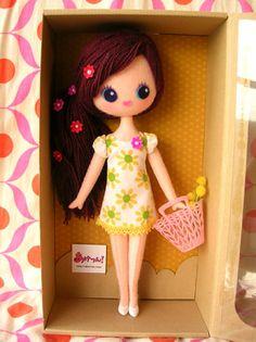 Felt Dolls, Plush Dolls, Rag Dolls, Unique Toys, Hello Dolly, Diy Doll, Cute Dolls, Softies, Felt Crafts