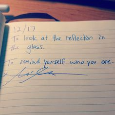 Remind yourself.