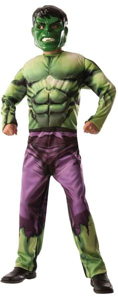 Avengers Assemble - Deluxe Reversible Hulk -Captain America Kids Costume from Buycostumes.com