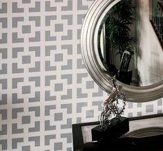 Wand Schablone geometrisches Quadrat Muster Zimmer Wanddekoration Made by OMG Schablonen Home Verbesserungen Farbe Gemälde 0010