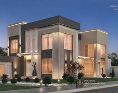 Classic House Exterior, Modern Exterior House Designs, Modern House Facades, Classic House Design, Modern Villa Design, Bungalow House Design, Modern House Plans, Duplex Design, Design Hotel