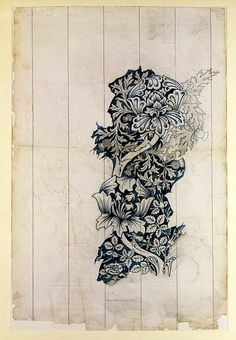 Design for 'Rose and Thistle' textile. | Morris, William | V Search the Collections