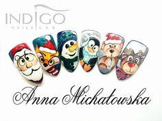 Christmas Nails Stylization from Anna Michałowska - Follow us on Pinterest! #indigo #nails #christmas #nailsart #gelpolish #icon #the #best