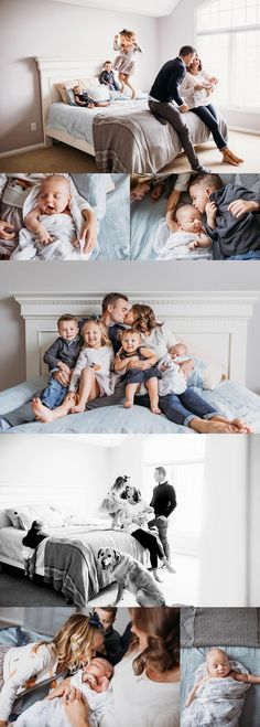 HOW CUTE IS THIS FAMILY? There is something that I just LOVE about a family with 4 kids. They were all so different, but sooo cute and sweet. Emily joked about Baby Girl Photography, Lifestyle Newborn Photography, Family Photography, Newborn Sibling Photography, Sibling Poses, Grunge Photography, Urban Photography, Photography Props, Children Photography