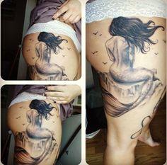 Mermaid tattoo for girls