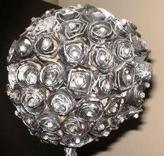 Topiario Flores de Cartones de huevo. Creaciones Fas-Fas