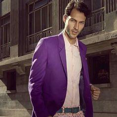 Purple Fotografía : Alexander Linares M : Icaro Pontes  Vestuario : Wendy Pozo - Londress www.londress.cl #Men ,#suit ,#jacket,#purple ,#campaign ,#male ,#model ,#icaro,#vestuariomasculino ,#WendyPozo ,#Londress, #casimir,#menwears ,#style ,#street ,#photoshoot