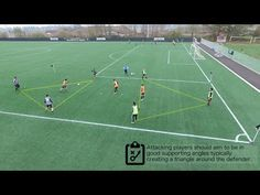 Possession small sided game for developing an interchanging to the midfield players in order to separate from defenders and gain space to receive passes. Soccer Passing Drills, Soccer Practice Drills, Football Coaching Drills, Soccer Training Drills, Soccer Workouts, Soccer Gifs, Soccer Quotes, Football Is Life, Football Soccer