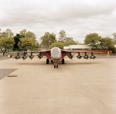 General Dynamics of 1 Squadron RAAF with full bomb load. The was withdrawn from service in December 13 examples have been saved for display at various museums across Australia. Oclock, Museums, Dolores Park, Aircraft, December, Military, Australia, Display, Space