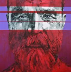 """""""grow upon the mountains"""" Art by Munro Men Of Courage, South African Artists, Mountain Art, Mountains, Portrait, Face, Painting, Painting Art, Portrait Illustration"""