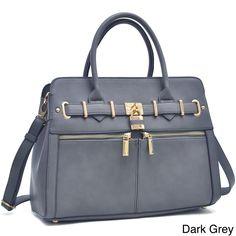 Dasein Satchel Handbag with Shoulder Strap