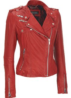 b833b297cb72 Blue slim fit double breasted leather jacket | Women Leather fashion ...