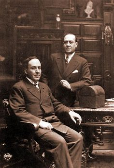 Spanish writers Manuel y Antonio Machado, Madrid, 1920s