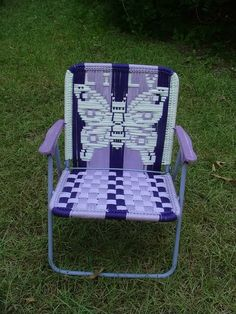 Transform Old Lawn Chairs Into Brand New DIY Macrame Seats Cute
