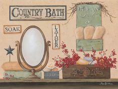 Country Bath - Soak, Lather by Pam Britton Wall Art Prints, Fine Art Prints, Canvas Prints, Country Baths, Thing 1, Decoupage Vintage, Bath Soak, Inspirational Wall Art, Wooden Art