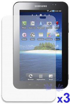 iShoppingdeals - Samsung Galaxy Tab Anti-Fingerprint, Anti-Glare, Matte Finishing Screen Protector (3 Packs) $4.48