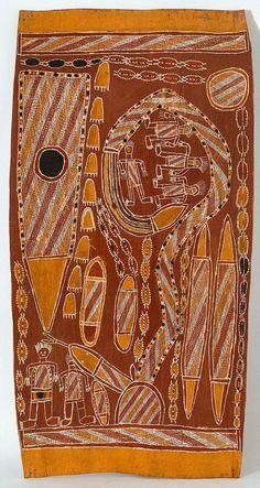 Wagilag Sisters Story by Dawidi Djulwarak, bark painting Northern Territory, Australia Aboriginal Artwork, Aboriginal Artists, Religions Du Monde, Aboriginal Culture, Maori Art, Australian Art, Indigenous Art, Hand Art, Sacred Art