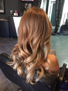 Level 8 blonde with bright blonde ends. Natural level 2 Asian hair.