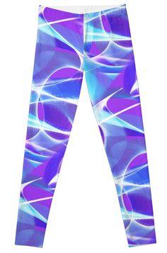 7992592a405bd5 Waves Pattern on Pink Leggings by TC-TWS Blue Leggings, Wave Pattern, Yoga