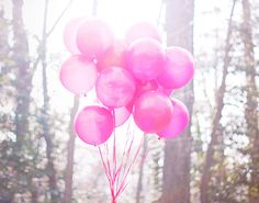 pink, balloons, sunshine... inspire light happiness