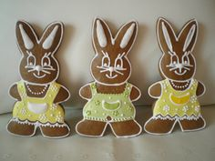 Easter Cookies, Sugar Cookies, Jelly Cake, Gingerbread, Biscuits, Food And Drink, Clay, Decorated Cookies, Rabbits
