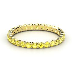 14K Yellow Gold Ring with Yellow Sapphire - lay_down