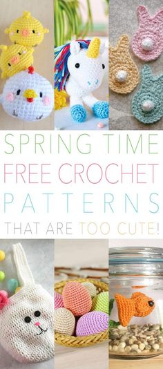 Had to share a little sampling of Spring Time Free Crochet Patterns that are TOO Cute!  From little Bunny Families…to freshly hatched Chicks…to Magical Unicorns and more.  So get those hooks and wool out and get ready to create!  Pick out your favorites while enjoying a hot cup of your favorite brew. Have fun…I know …