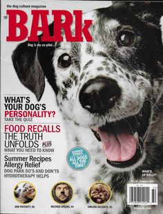 The Bark is the first dog magazine to tap into the exploding phenomena of dog culture and lifestyle. Magazine Spreads, Animal Magazines, Summer Story, Food Recalls, Dog Poster, Dog Books, Dog Store, Free Dogs, Design Web