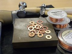 Copper Washers: A beautiful addition to your Jewelry Designs-- one of the best examples of using hardware turned into jewelry