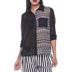 Chemisier Aztec double face Urban Chic, Street Wear, Tunic Tops, Blouse, Aztec, Ali, Collection, Women, Fashion