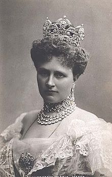 The Princess Maria Josepha of Saxony (1867-1944). She was a daughter of King Georg I and his wife, The Infanta Maria Ana of Portugal. She was the wife (1886-1906) of The Archduke Otto Franz of Austria. Her children were Emperor Karl I and The Archduke Maximilian.