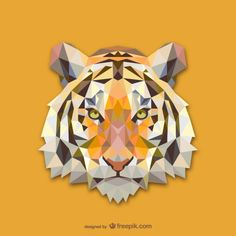 Triangle tiger | Free vector