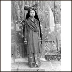 Indonesia, Sumatra. Minangkabau lady from ancient times. Their culture ismatrilinealandpatriarchal, with property and land passing down from mother to daughter, while religious and political affairs are the responsibility of men (although some women also play important roles in these areas. This custom is calledAdat perpatihin Malaysia and Lareh Bodi Caniago in Indonesia.