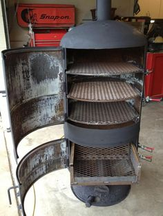 New build, new build toy w/pic's Bbq Pit Smoker, Diy Smoker, Homemade Smoker, Fire Pit Grill, Fire Pit Backyard, Outdoor Stove, Pizza Oven Outdoor, Bbq Grill Diy, Grilling