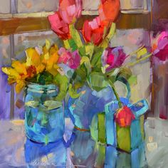"""Paris, A Classic Song, Fresh Flowers.....""""Always in Style"""":))))  Dreama's Daily Paintings and Writings"""